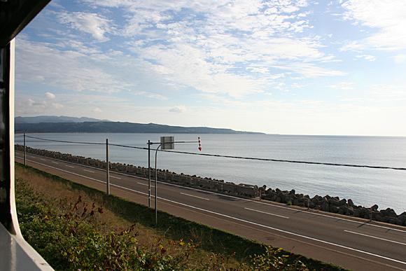 JR江差線の車窓風景(江差~上ノ国間)
